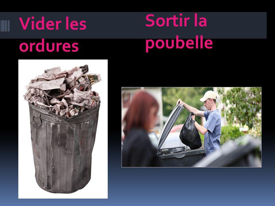 Vider les ordures Sortir la poubelle