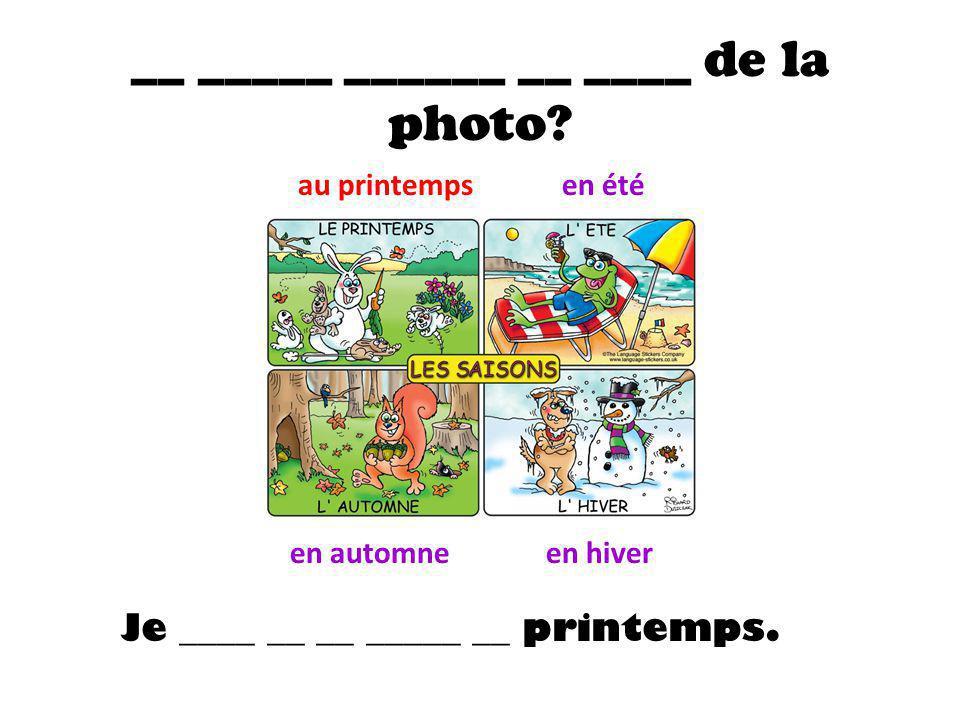 __ _____ ______ __ ____ de la photo.