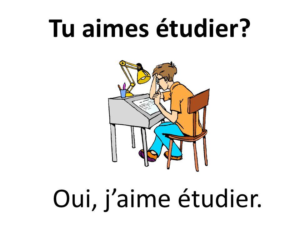 Tu aimes étudier? Oui, jaime étudier.