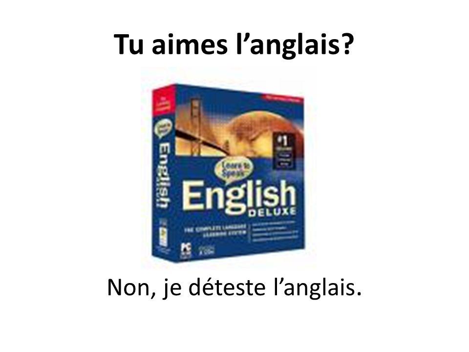 Tu aimes langlais? Non, je déteste langlais.