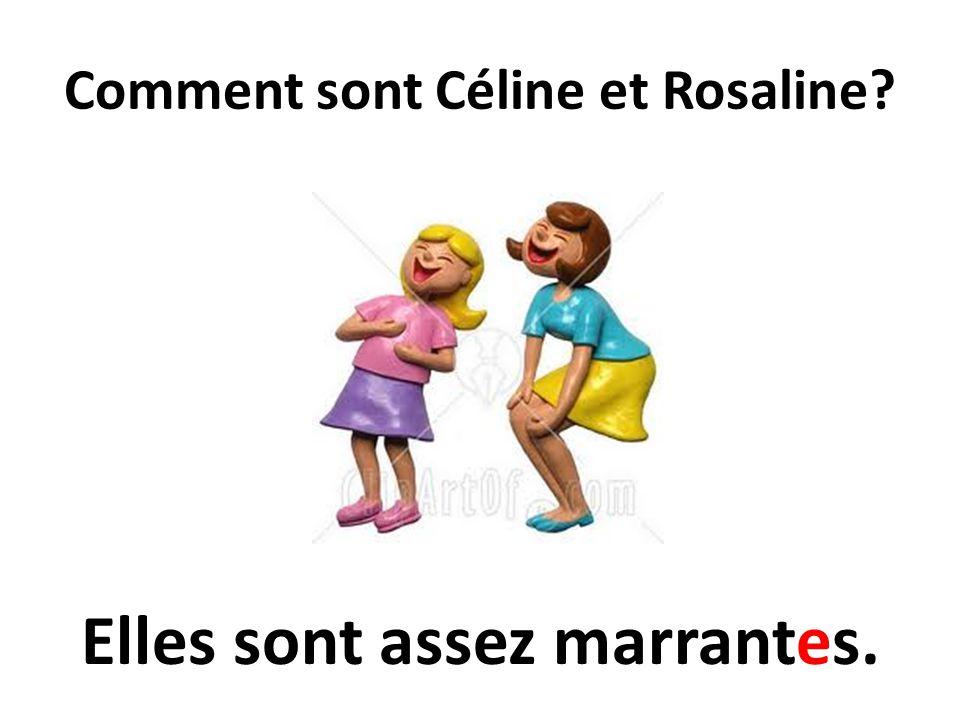 Comment sont Céline et Rosaline? Elles sont assez marrantes.