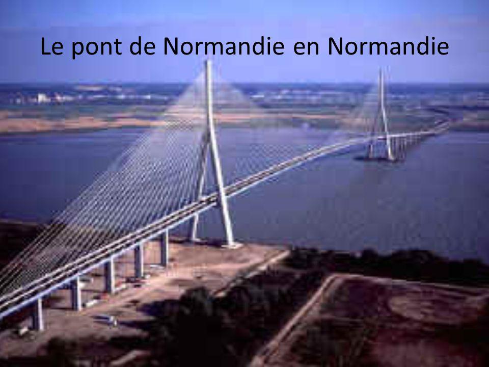 Le pont de Normandie en Normandie