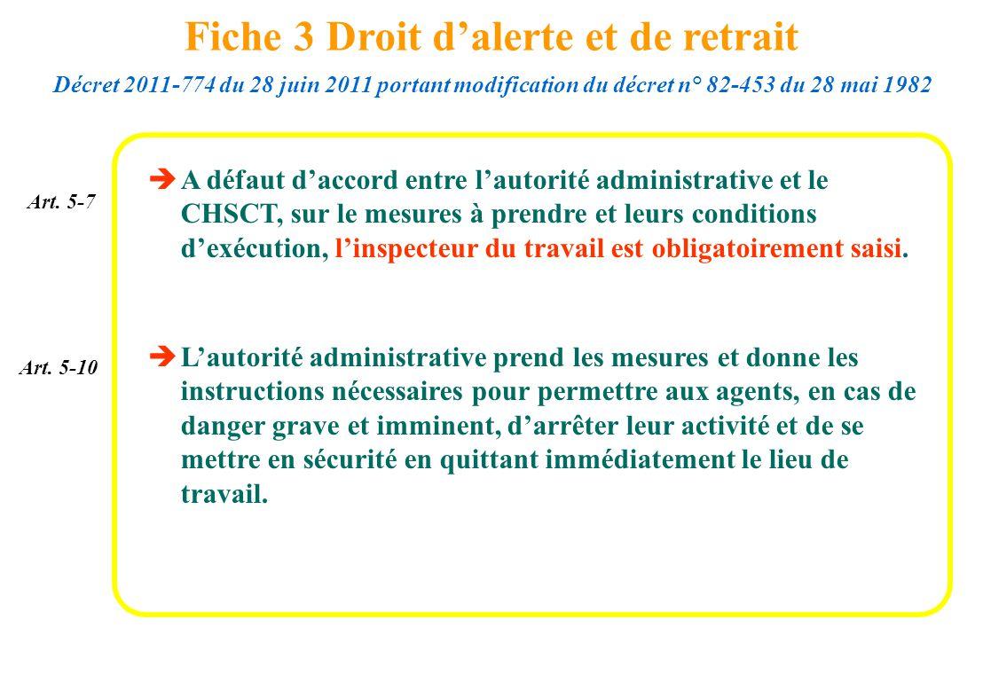 A défaut daccord entre lautorité administrative et le CHSCT, sur le mesures à prendre et leurs conditions dexécution, linspecteur du travail est oblig