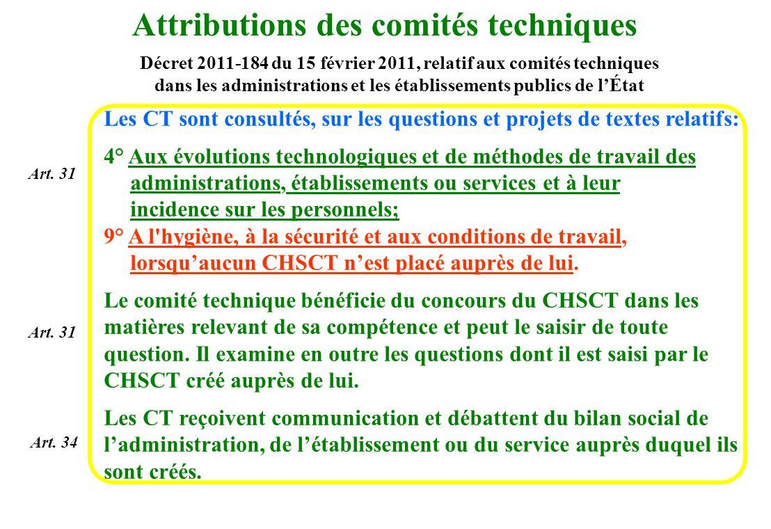 3 AXES 1.Instances et acteurs opérationnels compétents en matière de santé et sécurité au travail (actions 1 à 5) Modification du décret 82-453 2.Objectifs et outils de prévention des risques professionnels (actions 6 à 11) DUER, RPS, TMS, CMR, SUMER, Formation des agents Décrets 11/12.2009 CMR et amiante, Circulaires du 18 mai 2010 DU, CMR Cf.