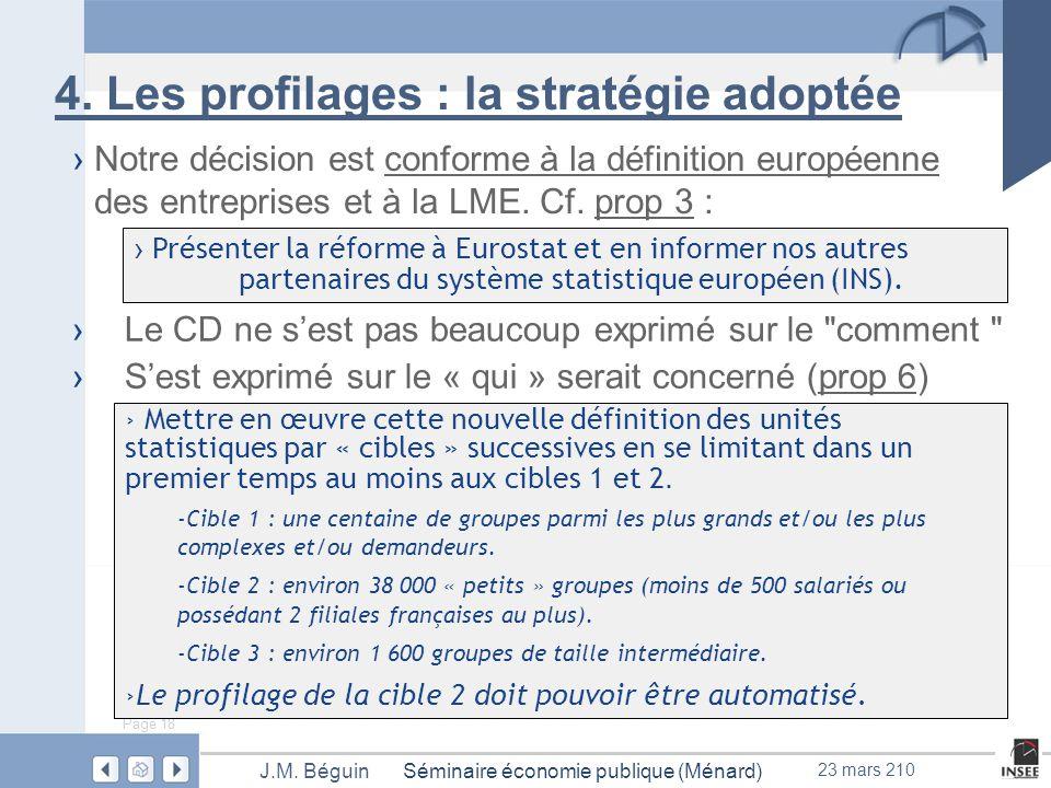 Page 18 Séminaire économie publique (Ménard)J.M. Béguin 23 mars 210 4.