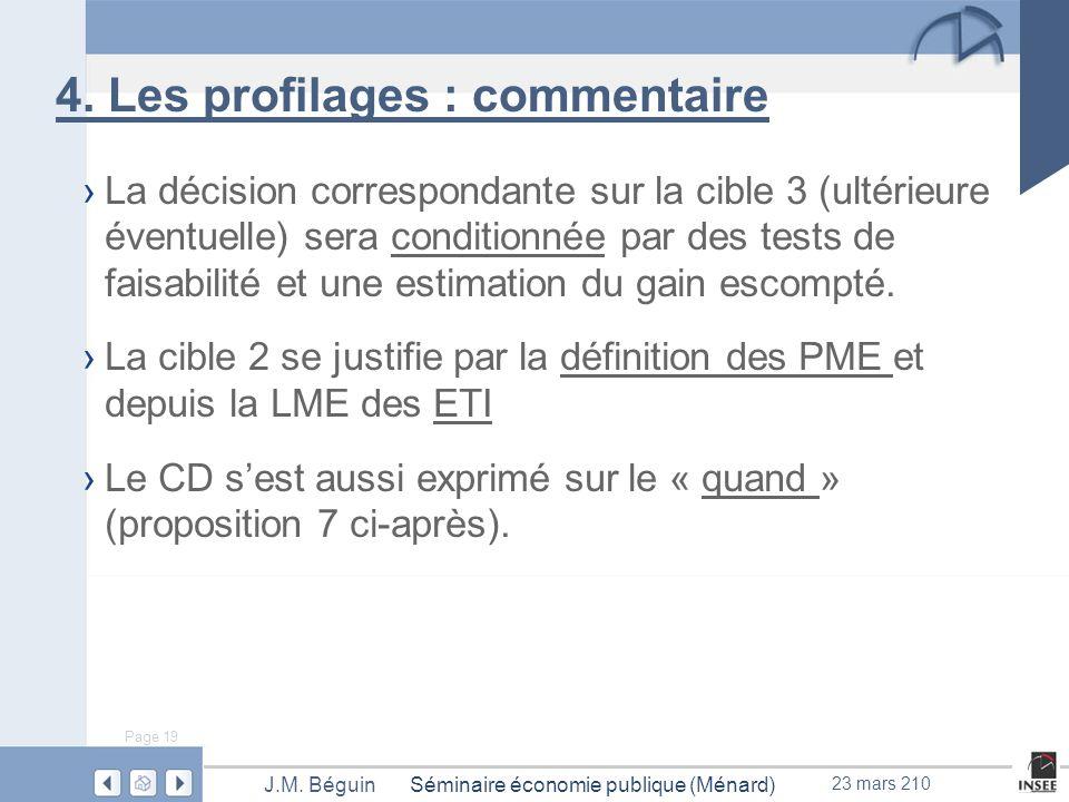 Page 19 Séminaire économie publique (Ménard)J.M. Béguin 23 mars 210 4.