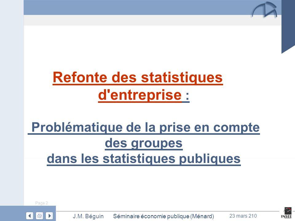 Page 2 Séminaire économie publique (Ménard)J.M.
