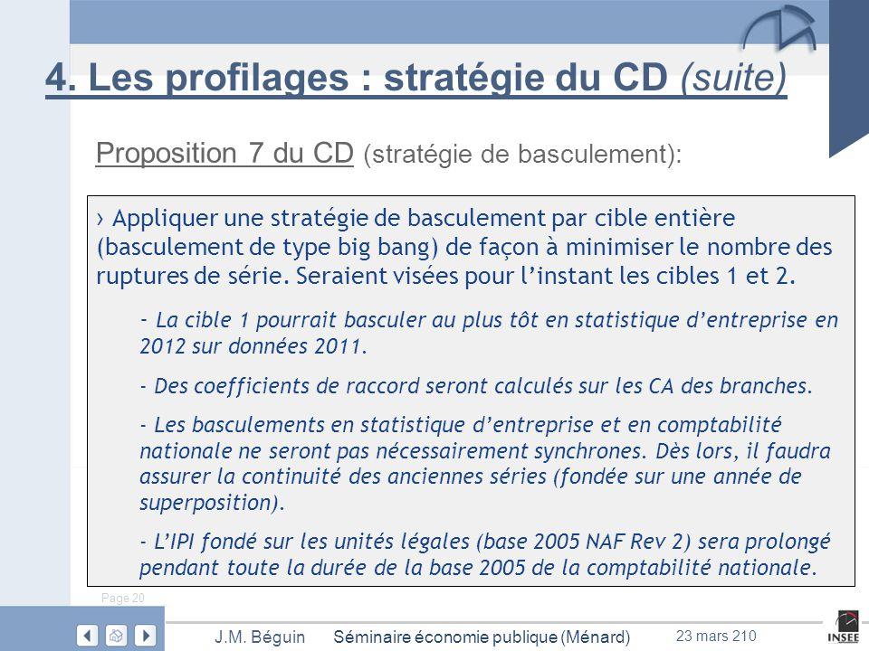 Page 20 Séminaire économie publique (Ménard)J.M.Béguin 23 mars 210 4.