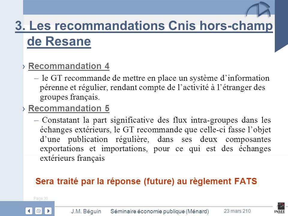 Page 30 Séminaire économie publique (Ménard)J.M. Béguin 23 mars 210 3.