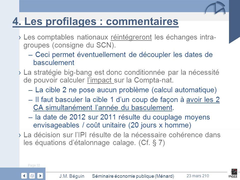 Page 32 Séminaire économie publique (Ménard)J.M. Béguin 23 mars 210 4.