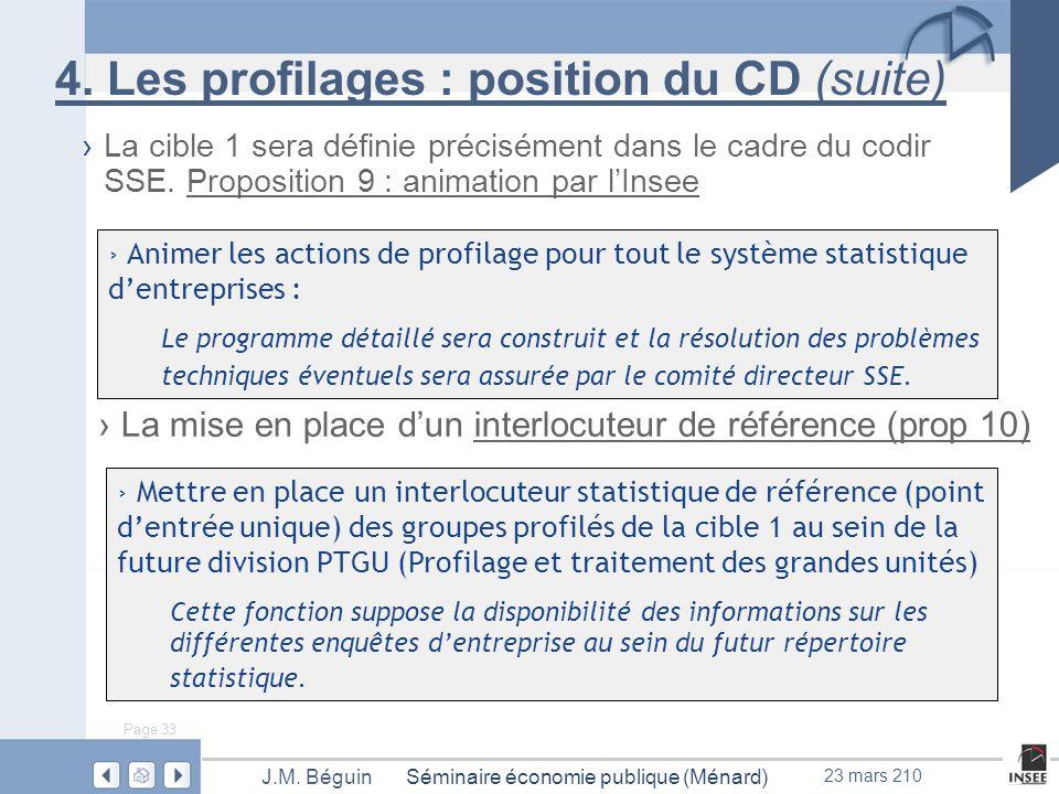 Page 33 Séminaire économie publique (Ménard)J.M. Béguin 23 mars 210 4.