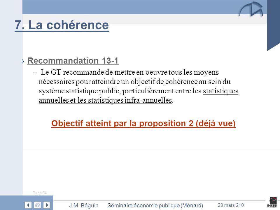 Page 34 Séminaire économie publique (Ménard)J.M. Béguin 23 mars 210 7.