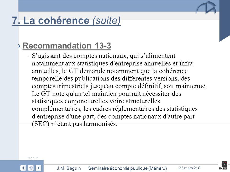 Page 35 Séminaire économie publique (Ménard)J.M. Béguin 23 mars 210 7.