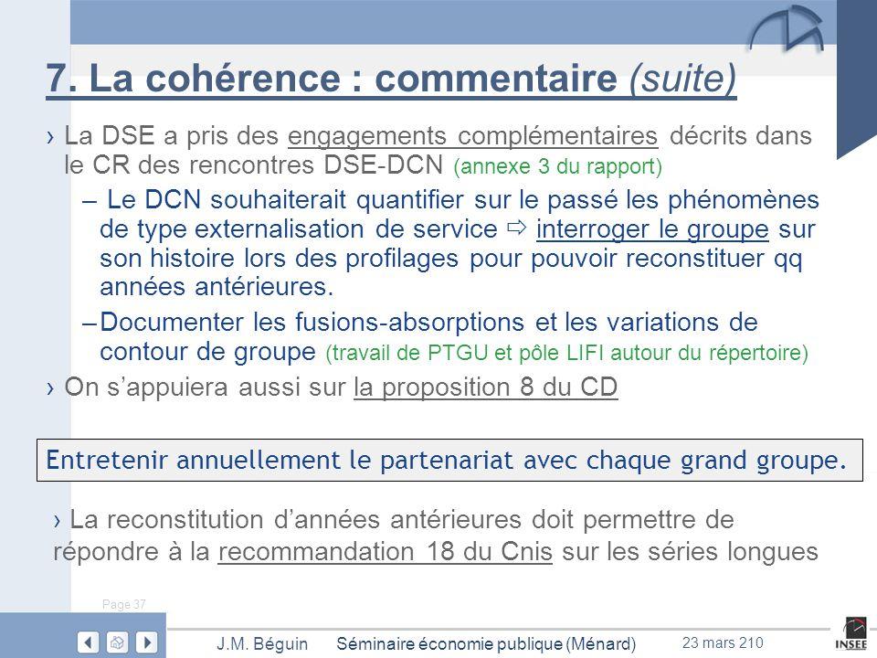 Page 37 Séminaire économie publique (Ménard)J.M. Béguin 23 mars 210 7.