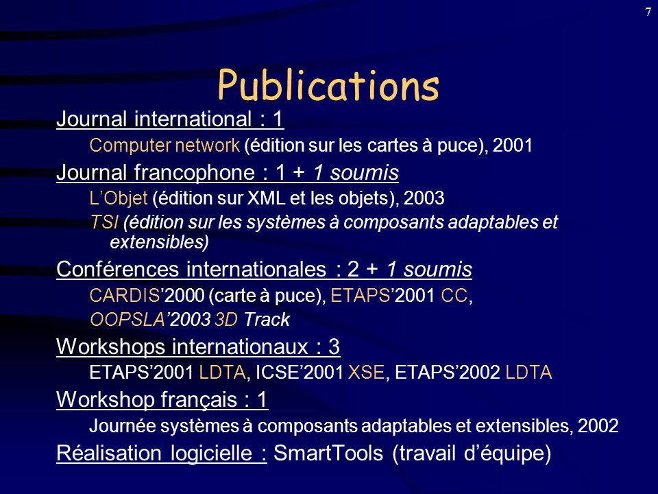 6 Positionnement des Travaux A la Frontière de plusieurs Domaines : 1)Langages de Programmation (prog.