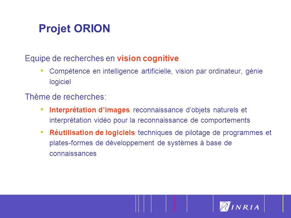 6 Equipe de recherches en vision cognitive Compétence en intelligence artificielle, vision par ordinateur, génie logiciel Thème de recherches: Interpr