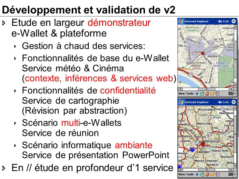 -19- Développement et validation de v2 Etude en largeur démonstrateur e-Wallet & plateforme Gestion à chaud des services: Fonctionnalités de base du e