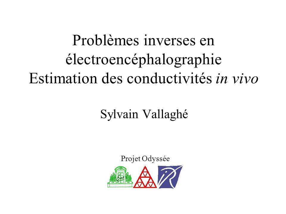 Sylvain Vallaghé Projet Odyssée Problèmes inverses en électroencéphalographie Estimation des conductivités in vivo