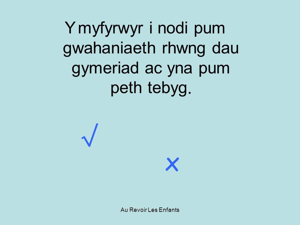 Au Revoir Les Enfants Y myfyrwyr i nodi pum gwahaniaeth rhwng dau gymeriad ac yna pum peth tebyg. x
