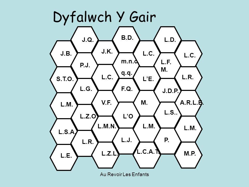 Au Revoir Les Enfants L.F. M. Dyfalwch Y Gair J.B.