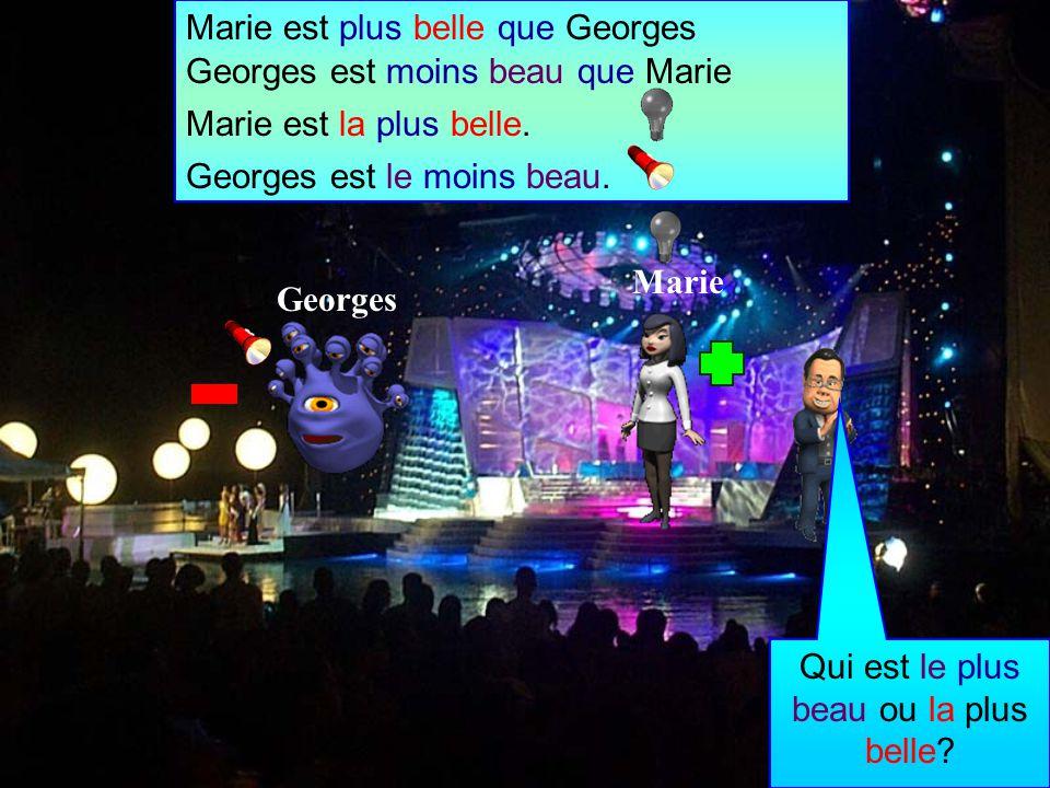 Marie Georges Qui est le plus beau ou la plus belle.