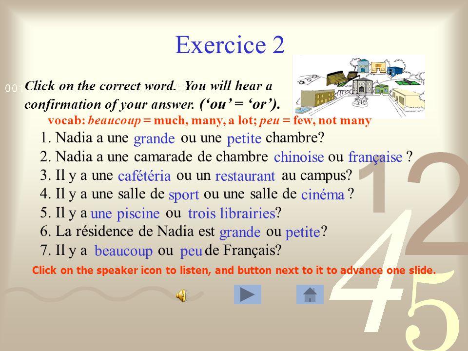 Exercice 1 1. Philippe a un cours de sociologie. 2.