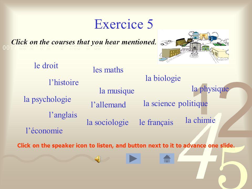 Exercice 4 1. Les cours commencent lundi, le 15 septembre.