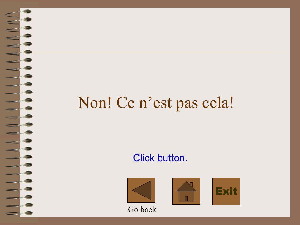 Click button. Non! Ce nest pas cela! Go back Exit