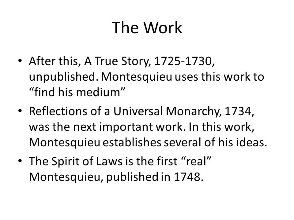The Work After this, A True Story, 1725-1730, unpublished.
