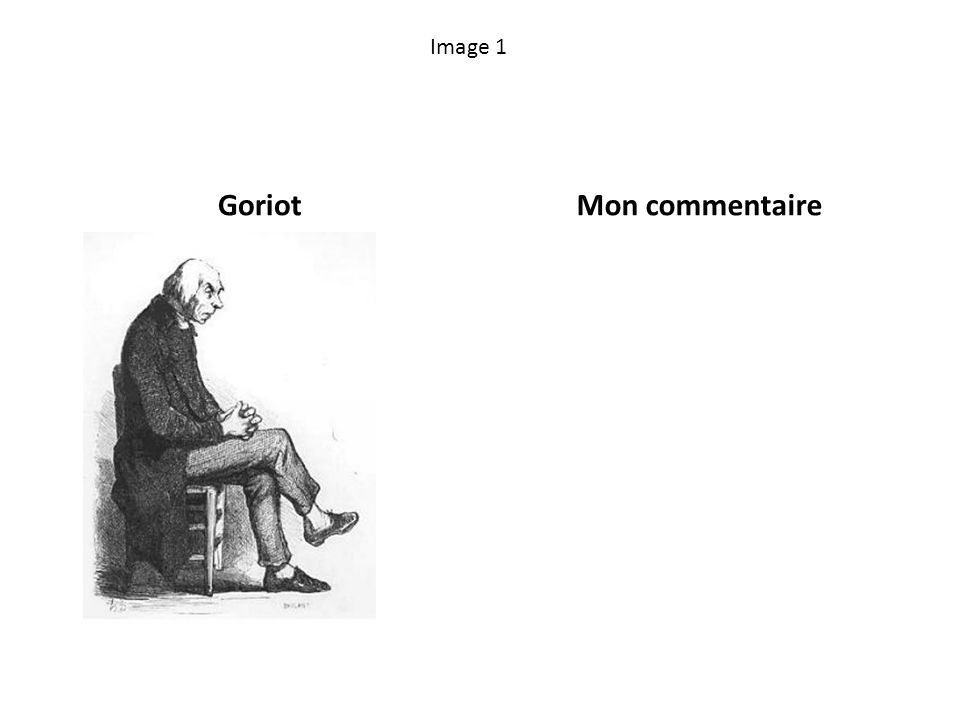 Image 1 GoriotMon commentaire