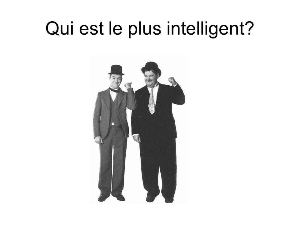 Laurel est plus intelligent que Hardy? Hardy est moins élégant que Laurel?