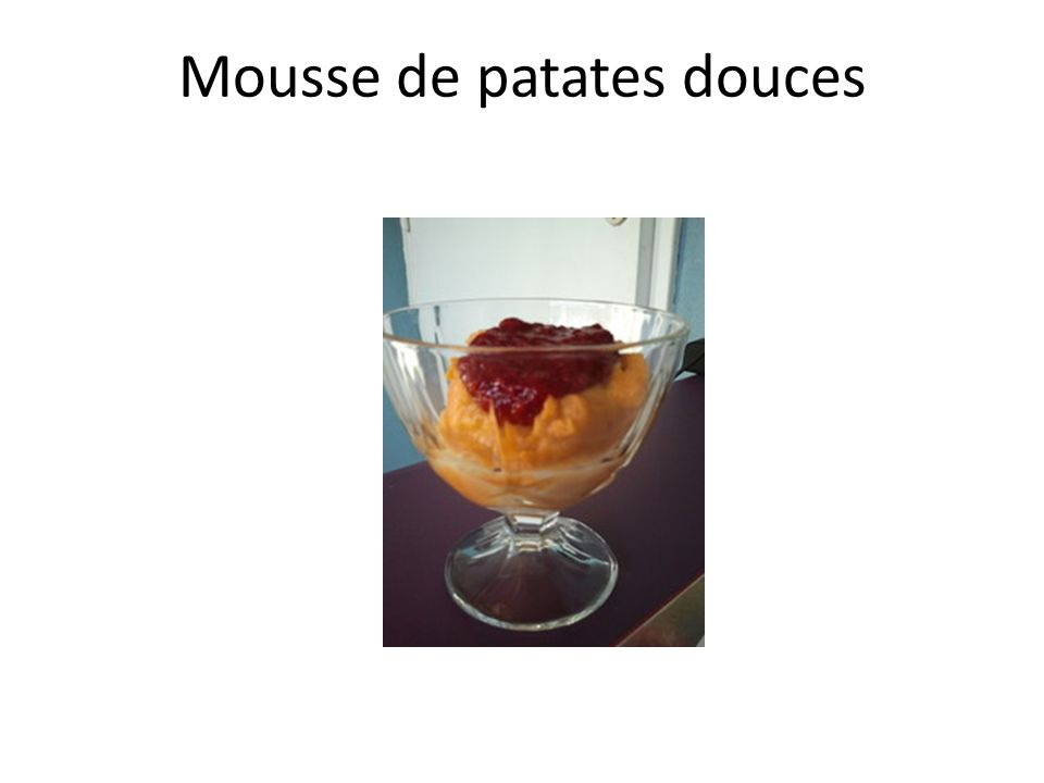 Mousse de patates douces