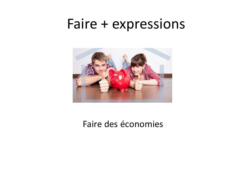 Faire + expressions Faire des courses
