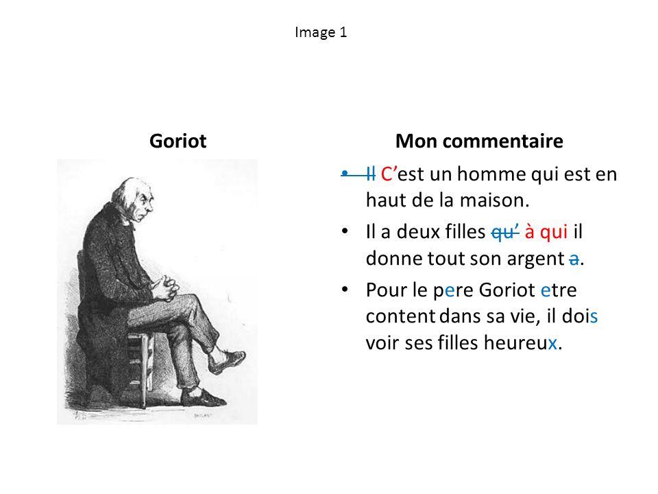 Image 12 Goriot se meurt.Mon commentaire Le pere Goriot est devenu le de plus et en plus pale quand le deux femmes parle [verb agreement].