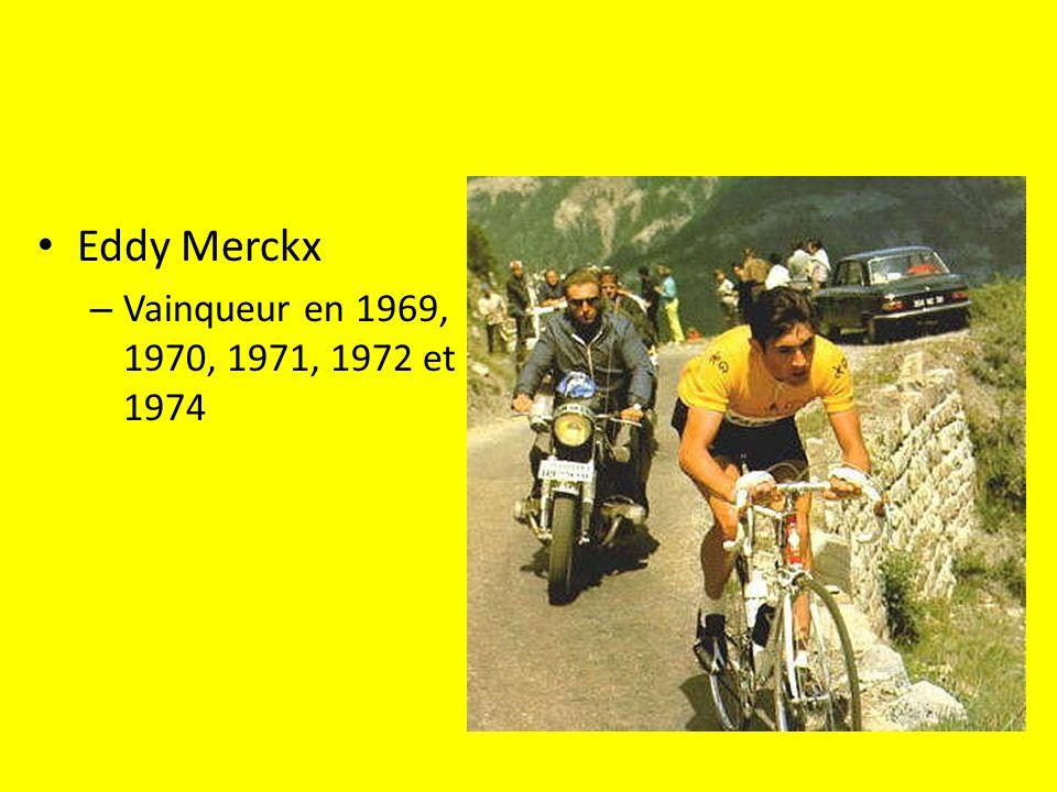 Eddy Merckx – Vainqueur en 1969, 1970, 1971, 1972 et 1974