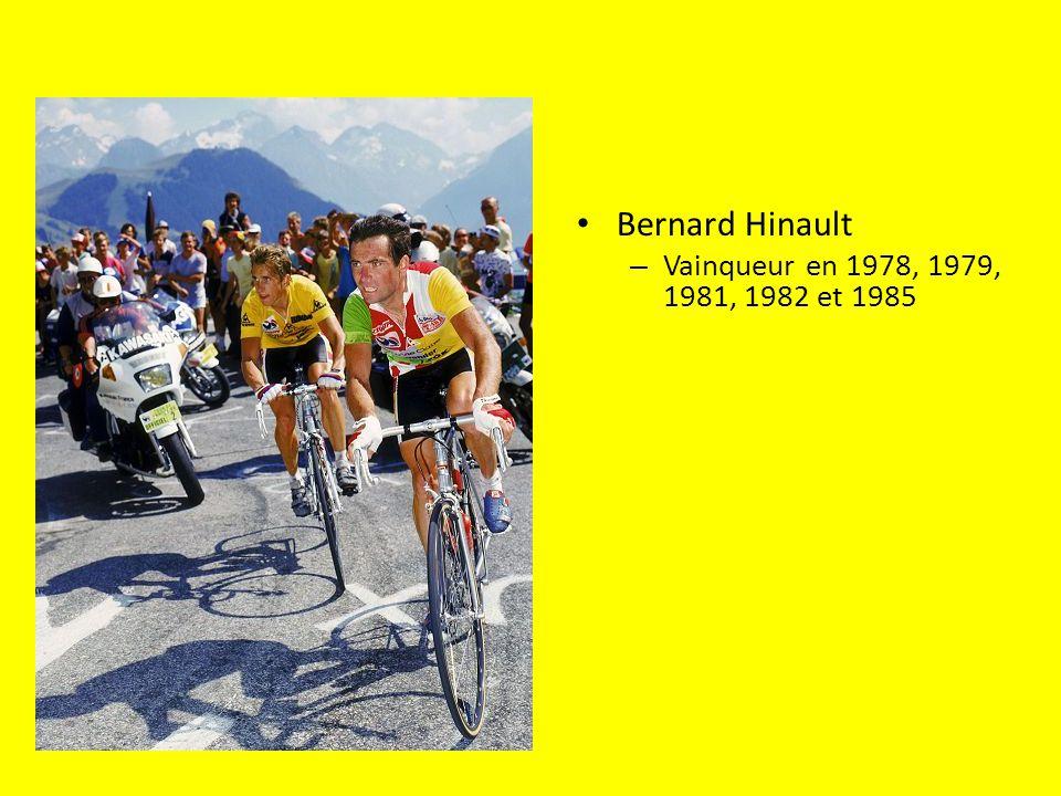 Bernard Hinault – Vainqueur en 1978, 1979, 1981, 1982 et 1985