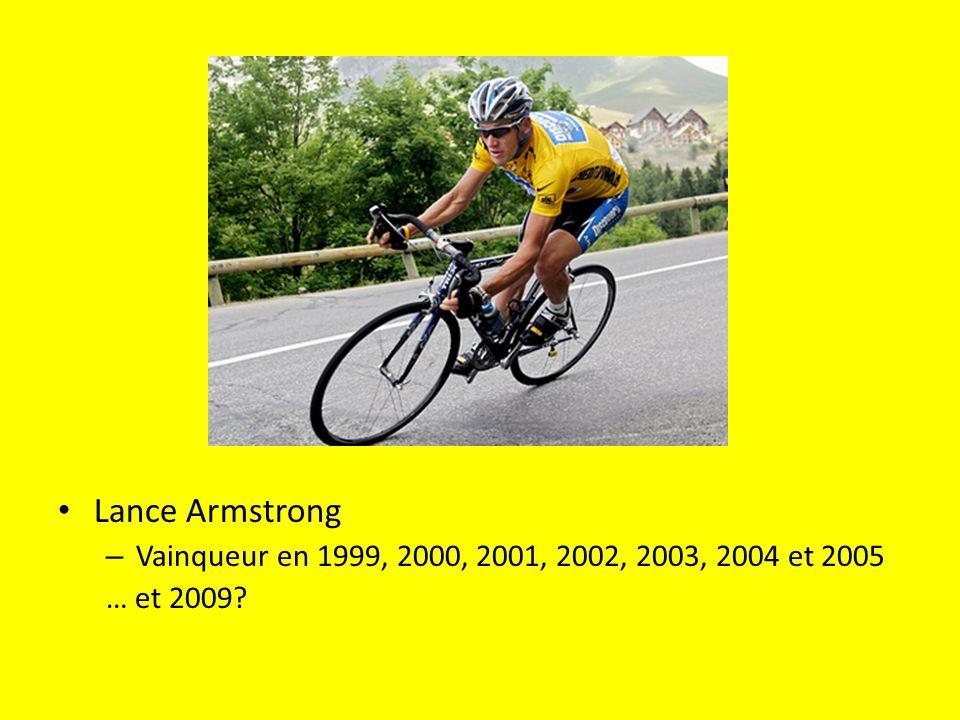 Lance Armstrong – Vainqueur en 1999, 2000, 2001, 2002, 2003, 2004 et 2005 … et 2009?