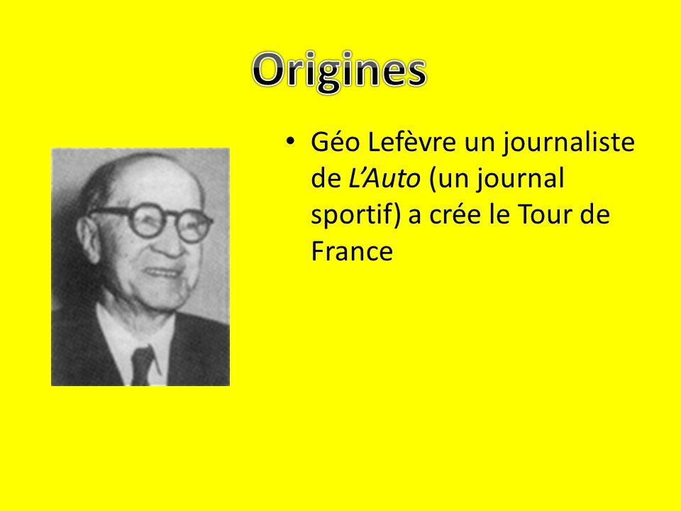image/svg+xml Géo Lefèvre un journaliste de LAuto (un journal sportif) a crée le Tour de France