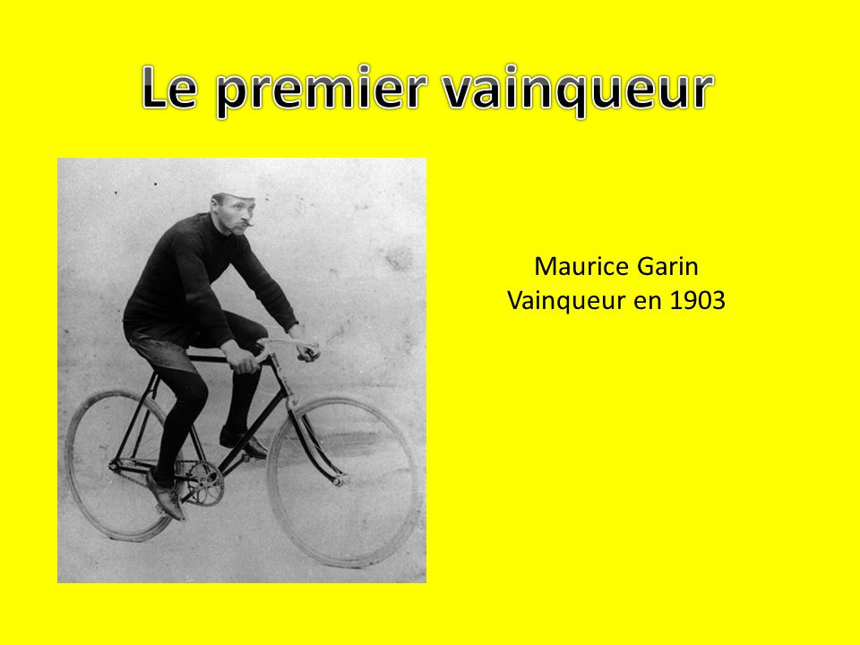 Maurice Garin Vainqueur en 1903