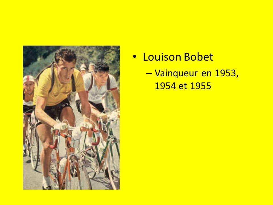 Louison Bobet – Vainqueur en 1953, 1954 et 1955