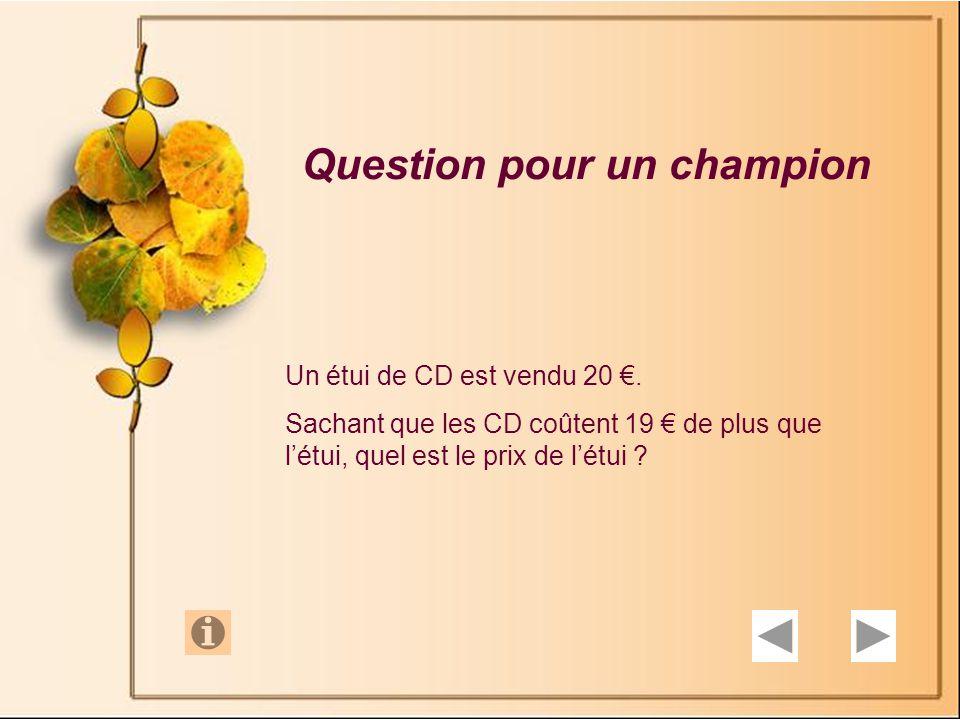 Question 10 Philippe et Jacques sont deux cyclistes de valeurs sensiblement égales.