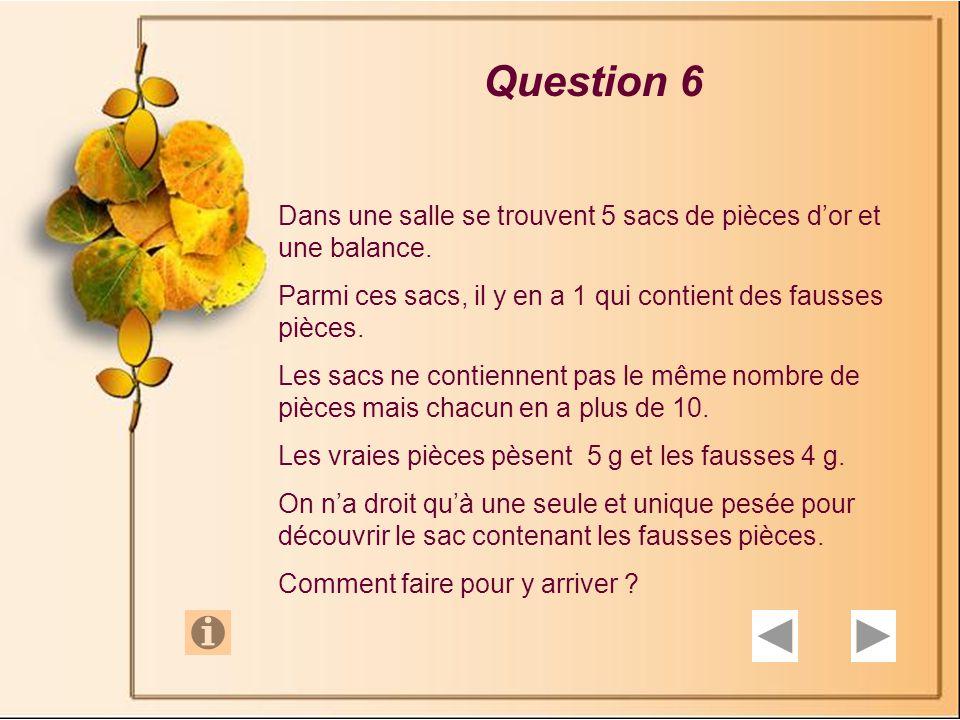 Question 5 Andrée a plus de deux robes.