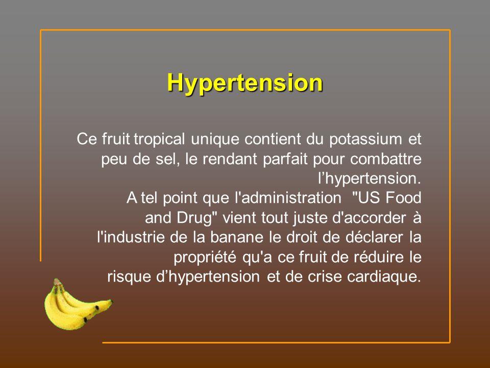 Riche en fer, la banane peut stimuler la production d'hémoglobine dans le sang. Anémie