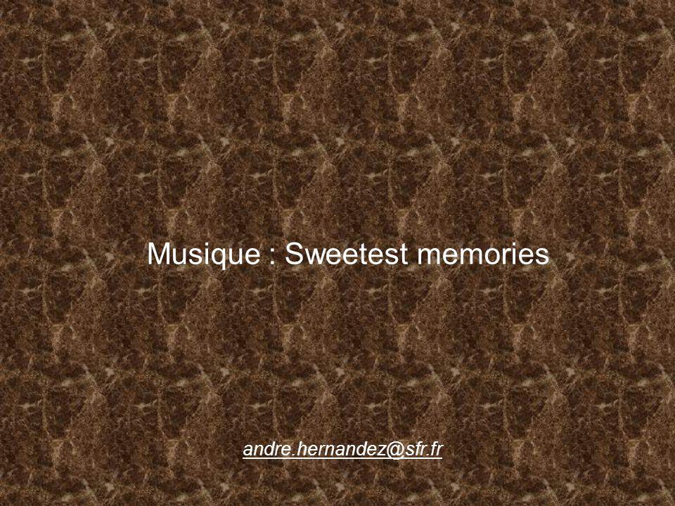 Musique : Sweetest memories andre.hernandez@sfr.fr