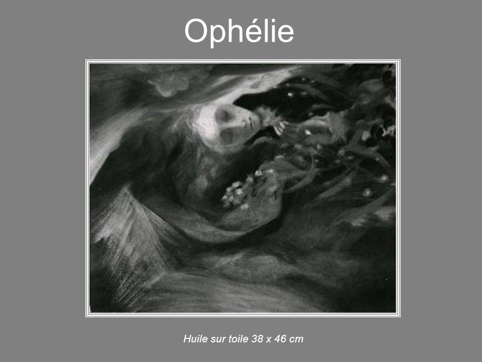Ophélie Huile sur toile 19 x 27 cm