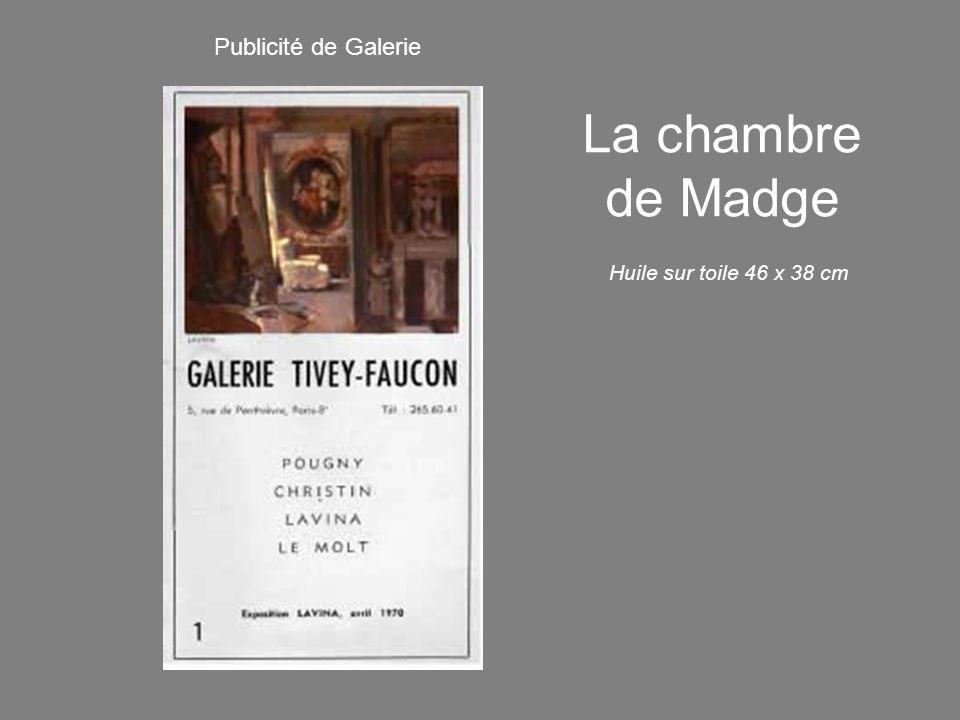 La chambre de Madge Huile sur toile 46 x 38 cm Publicité de Galerie