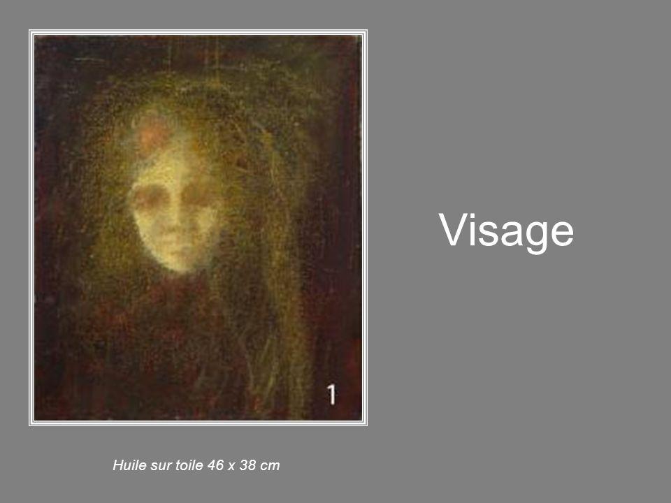 Intérieur Huile sur toile 46 x 38 cm
