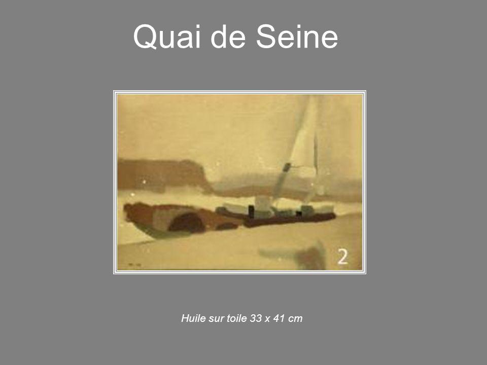 Quai de Seine Huile sur toile 33 x 41 cm