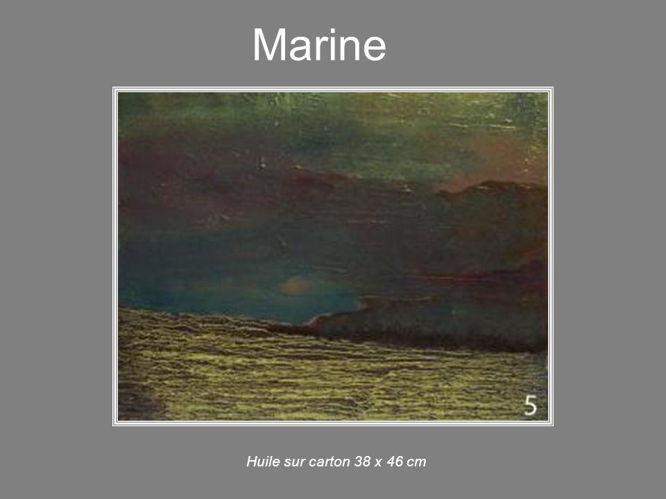 Marine Huile sur carton 38 x 46 cm