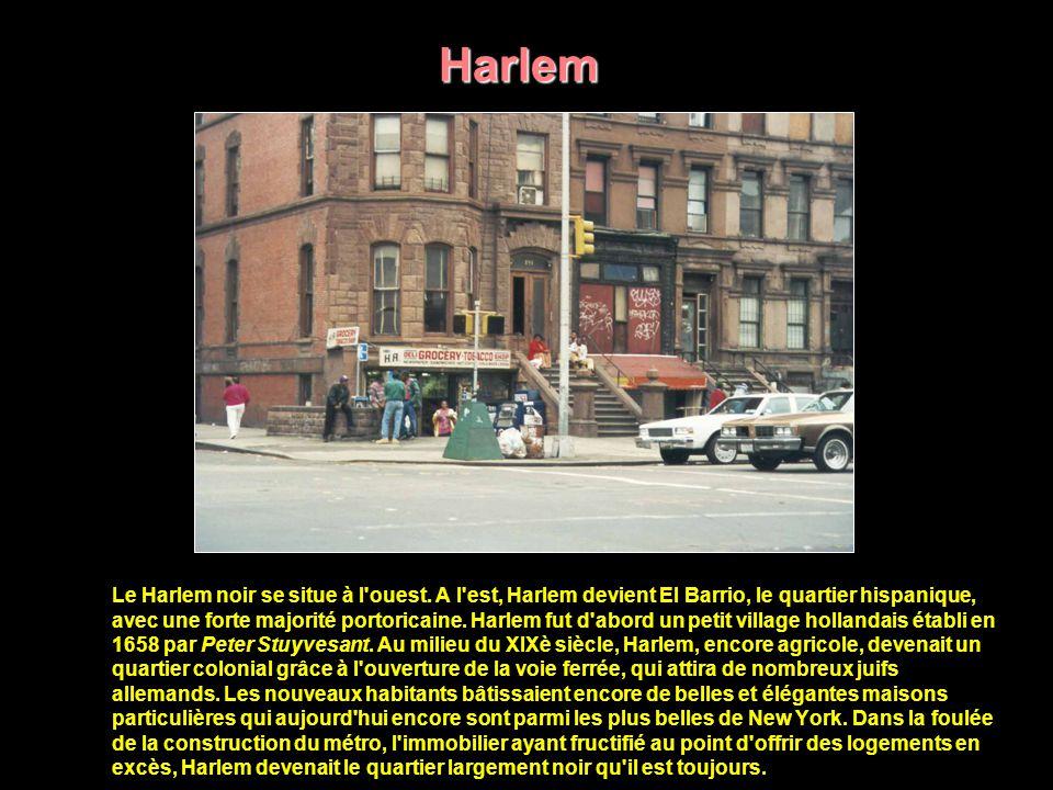 Harlem Harlem est à la fois le symbole du malaise racial en Amérique et la frontière géographique et mentale que l immense majorité des habitants blancs de New York répugne à franchir.